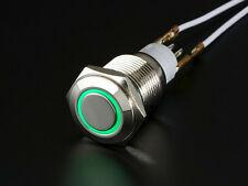 Rugged Metal On/Off Switch with Green LED Ring