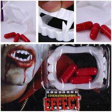 Halloween vampire teeth fangs with fake blood pills party costumes supplies New.