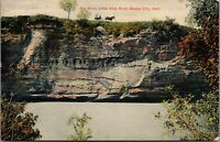 Steele City Nebraska~Horse Buggy on Top Big Rock Bluff~Little Blue River~c1910