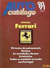 AUTO CATÁLOGO 90/91 TURBO PORTOGALLO 1990 SPEZIALE FERRARI 70 TESTI TECNICI