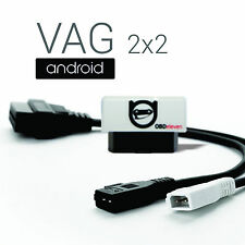 VAG 2x2 Adapter for Audi VW Android Diagnostic com vcd pro vas obd2 kkl cable cp