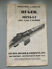 Original Ruger Mini-14 instruction Manual Sturm, Ruger & co