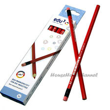12 pcs Edu 3 #800 Industrial Carpenter Pencil Color Red