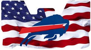 Custom Bills USA Flag Football Helmet Visor, W/ Unbranded Clips