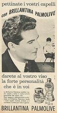 W8321 Pettinate i capelli con Brillantina PALMOLIVE - Pubblicità 1962 - Advert.