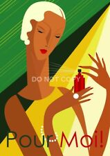 VINTAGE ART DECO FRENCH POUR MOI! PERFUME A4 GLOSSY PHOTO POSTER PRINT