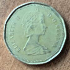 1987 Canadian One Dollar Loonie Coin $1 Canada Elizabeth II D.G. Regina Circ.