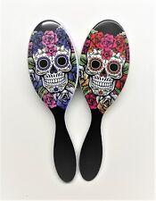 The Wet Brush Pro Detangle Hair Brush Sugar Skull Duo- Red & Purple Rose