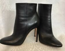 Gianvito Rossi Ankle Boot Black Leather  Zipper Side  Size 40