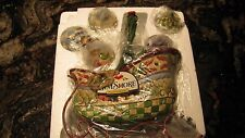 Jim Shore 2007 Sleigh Bells Ring Sleigh with 5 Christmas Ornaments  NEW IN BOX