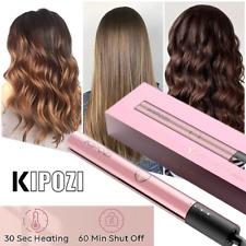 Women Fashion RoseGold Gift Hair Straightener KIPOZI Curler 2 in 1 Salon Styling