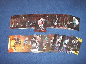 2000-01 BLACK DIAMOND HOCKEY BASE SET W/O SP'S 1-60 PLUS RC AND INSERTS (18-30)