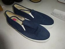 Hanes Her Way Navy Blue Slip On Shoes Canvas Washable Size 8.5M