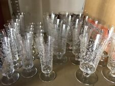 Signed Baccarat Crystal Stemware Set jeddah Pattern (16 pieces) etched birds