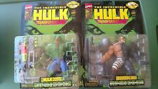 Marvel Toy Biz 1997 HULK TRANSFORMATIONS ABSORBING MAN & HULK 2099 figure lot