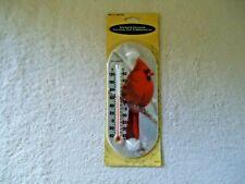 "Acu-Rite "" NIP "" Cardinal Bird Winter Themed Indoor & Outdoor Thermometer"