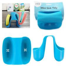 Blue Mini Fregadero ordenado titular 'Elliott' lavado de cocina cepillo de esponja Soporte De Tela