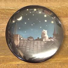 CAT & STELLATO NOTTE TASCA / BORSETTA compatto Specchio, regali per gli appassionati di gatto fatta in UK