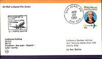 Flugpost Lufthansa First Flight FRA San Juan La Paz Bolivia Aera USA Briefmarke