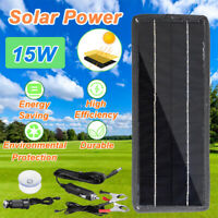 Portable 15W 12V Solar Panel High Efficiency Battery Charge For Car RV Boat New