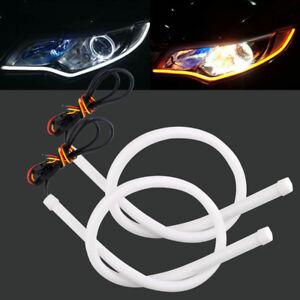 30CM 45CM 60CM 85CM 3020 LED Strip Flexible Soft Tube Daytime Running Light DRL