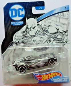 2017 Hot Wheels DC COMICS SKETCHED SERIES CHARACTER CARS BATMAN 1/5