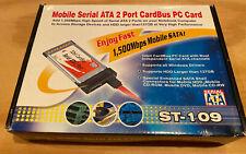 Brand New 2 Port Serial Ata 2 Port CardBus Card