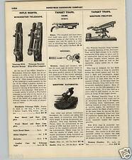 1927 PAPER AD Winchester Rifle Scope Telescope King Sights