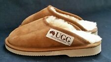 New Made in Australia genuine Sheepskin Slippers-Tan kids size 12-13