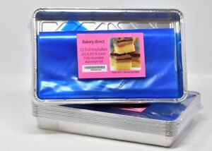"""Bakery Direct Large Foil Food Tray Bake Containers Aluminium Recyclable 12 x 8"""""""