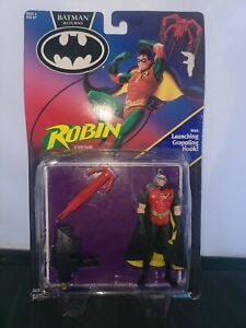 ROBIN - BATMAN RETURNS Kenner 1991 NIP WITH LAUNCHING GRAPPLING HOOK NEW