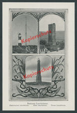 Borkum North Sea Electric Lighthouse Nautical Navy Anchor Lower Saxony 1913