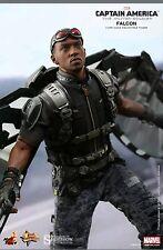 "Hot Toys Falcon Captain America The Winter Soldier 1/6 Scale Figure 12"" New"
