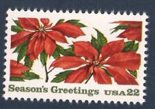 2166 Poinsettia Plants Us Single Mint/nh Free Shipping