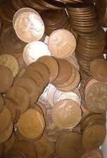 British Old Pennies Job Lot 10 Old Penny Coins From 1896 To 1967 1d Coppers