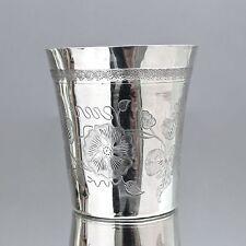 Osmanisches Reich: Becher aus Silber, Blumen Gravur Türkei Ottoman silver beaker
