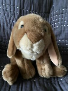 "Toys R Us 1999 Animal Alley Brown Bunny Rabbit Stuffed Plush Toy 13"" Tall"