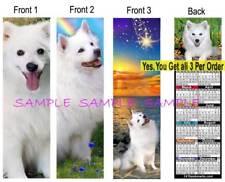 3 Lot-American Eskimo 2019 Calendar BOOKMARK Samoyed Husky Dog Gift Book Card