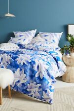 Anthropologie Painted Indigo king duvet cover