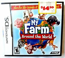 MY FARM AROUND THE WORLD Nintendo DS 2008 Animals Zoo Y-Folds Brand New Sealed