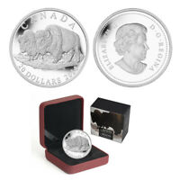 2014 Canada $20 The Bison-Bull and His Mate Fine Silver Proof Coin