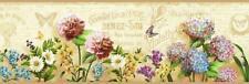 Wallpaper Border French Postal Springtime Flowers Floral Portrait