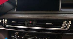 Matt Chrome Dashboard Console AC Air Vent cover trim For BMW X5 F15 X6 F16 2015