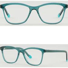 Square Women Acetate Frame Light Prescription Glasses Lenses Spring Hinges Green