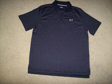 Pre-Owned Under Armour Men'S Black Striped Golf/Polo Shirt Size Large