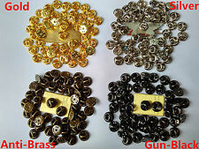 brass lapel badge post pin butterfly backs clutch clasp hold for military police