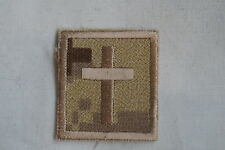 Canadian Forces Desert ARID CADPAT Cloth Chaplin Badge