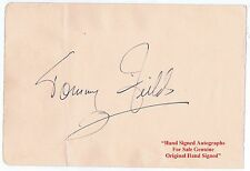 TOMMY FIELDS  Singer and Comedian Gracie Fields Brother   HAND SIGNED Album Page