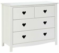 Home Mia White 2+2 Chest of Drawers