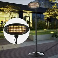 Electric Patio Quartz Heater 2KW Garden Outdoor Free Standing Warmer Adjustable